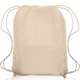 Natural Color Cotton Drawstring Backpack