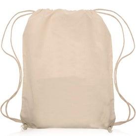 Natural Color Cotton Drawstring Backpack
