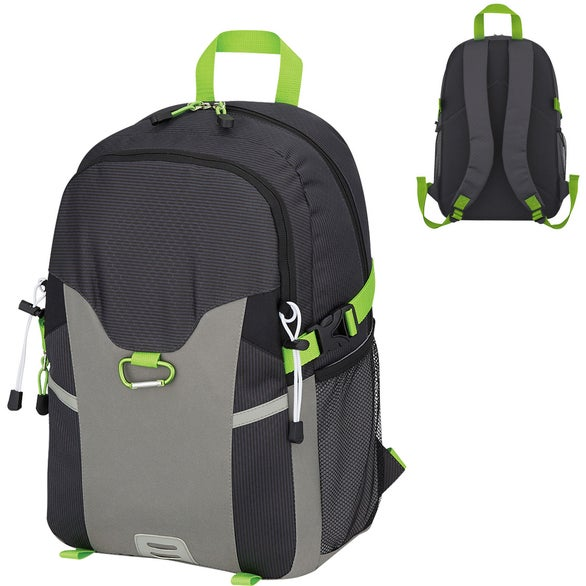 Gray / Black / Lime Green Odyssey Backpack