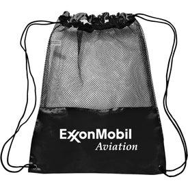 Polyester Mesh Drawstring Backpack