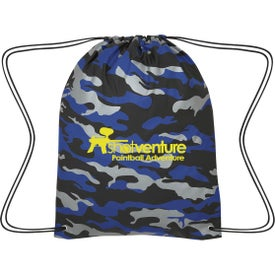 Reflective Camo Drawstring Sports Packs