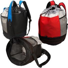 Monogrammed Sand Backpack