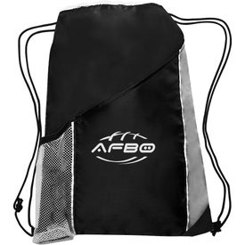 Side Mesh Pockets Drawstring Backpack