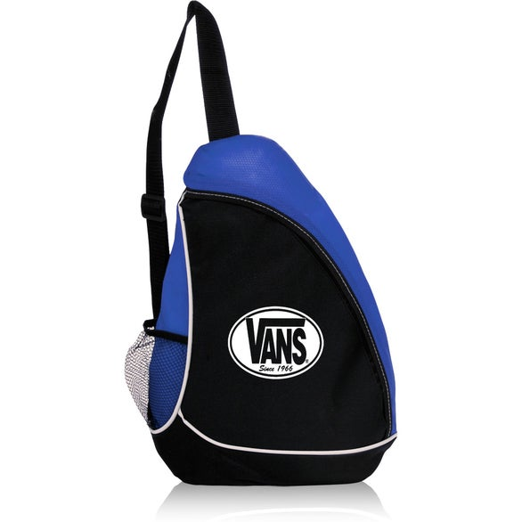 Black / Blue Sling Shot Backpack