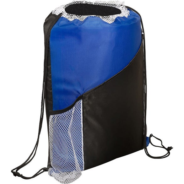 Reflex Blue / Black Spirit Angled Drawstring Sports Pack with Pockets