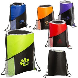 Spirit Angled Drawstring Sports Pack with Pockets