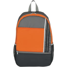 Logo Sports Backpack with Adjustable Straps