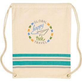Springtide Cotton Drawstring Backpack