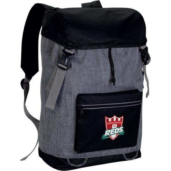 Gray / Black Stand-Alone Backpack