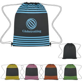 Stripped Drawstring Sports Packs
