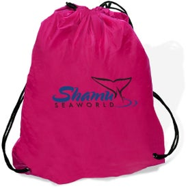 Super Saver String Backpack with Your Slogan