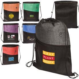 Tonal Heathered Non-Woven Drawstring Backpack