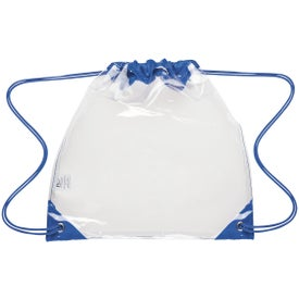 Touchdown Clear Drawstring Backpacks