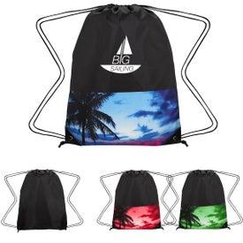 Tropical Drawstring Backpack