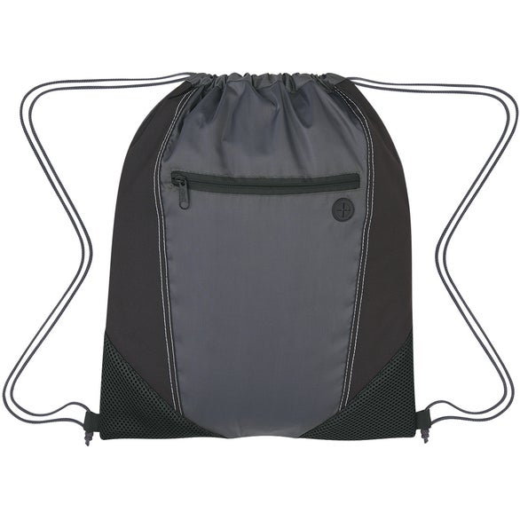 Gray / Black Two-Tone Drawstring Sports Pack