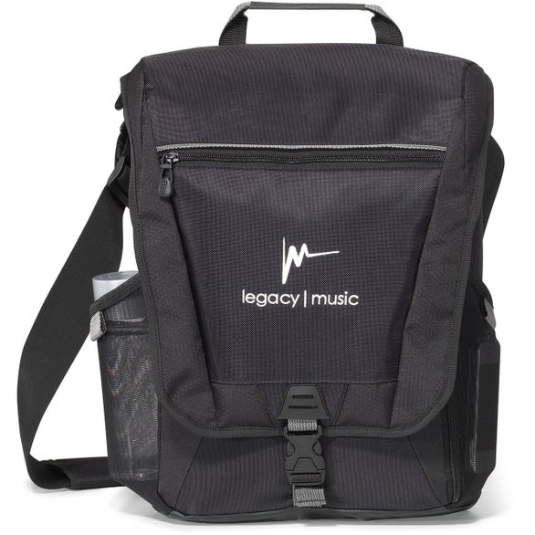 Black Vertex Vertical Computer Messenger Bag