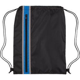 Vertical Zippered Drawstring Backpack