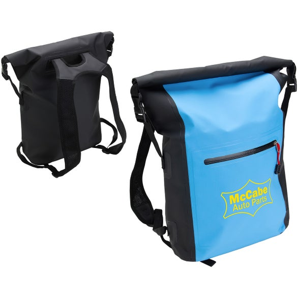 Black / Aqua Blue Waterproof Backpack