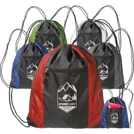 Zipper Pocket Drawstring Backpack