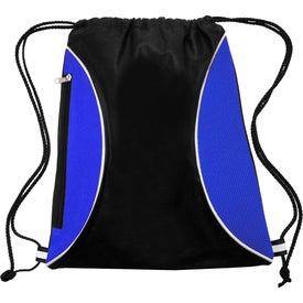 Zipper Side Drawstring Backpack