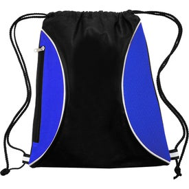 Zipper Side Drawstring Backpack