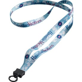 "1/2"" Dye-Sublimated Lanyard with Plastic Clamshell and Plastic O-Ring"