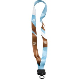 """3/4"""" Dye-Sublimate Lanyard with Plastic Clamshell and O-Ring"""