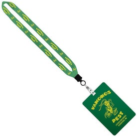 """3/4"""" Sublimated Lanyard with 4"""" x 6"""" ID Badge"""