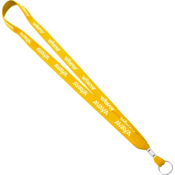 Yellow One Ply Cotton Lanyard