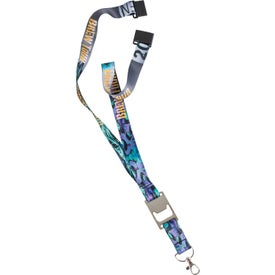 "Heavy Weight Satin Lanyard with Metal Bottle Opener (3/4"")"