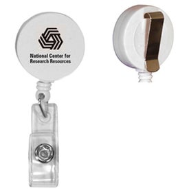 Round Badge Holder with Slide On Clip