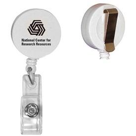 Round Badge Holder with Slide On Clip