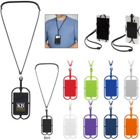 Silicone Lanyard with Phone Holder and Wallet
