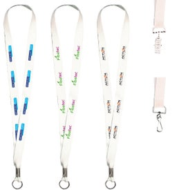 White Lanyard with Full Color Imprint