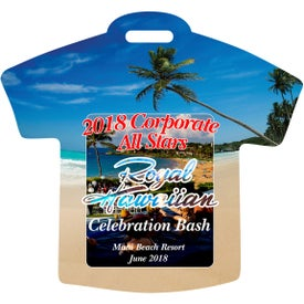 Beach T-Shirt Luggage Tag with Printed ID Panel