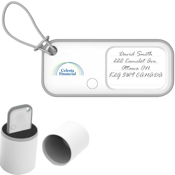White BeagleScout Two-Way Tracker and Luggage Tag