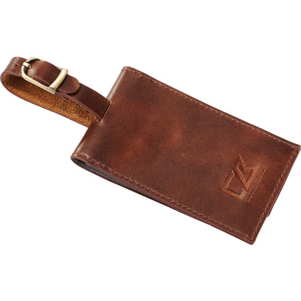 Brown Cutter and Buck Bainbridge Luggage Tag