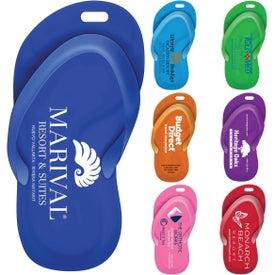 Flipper Stock Shape Sandal Luggage Bag Tag
