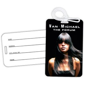 Plastic Luggage Tag (Full Color Logo)