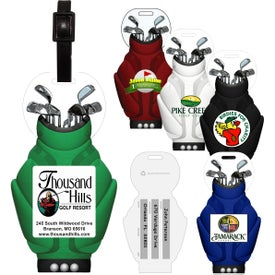 Golf Bag Luggage Tag with Printed ID Panel