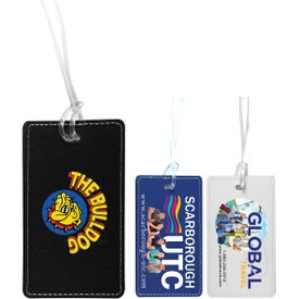 Lightning Leatherette Luggage Tag