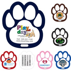 Paw Luggage Tag with Printed ID Panel
