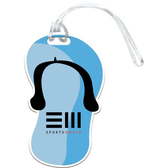 Full Color Imprint Sandal Luggage Tag
