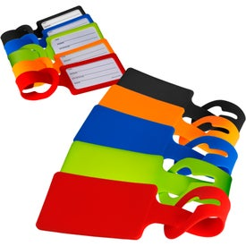 Silicone Luggage Tag with ID Cards