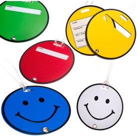 Smilin' Luggage Tag Branded with Your Logo