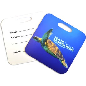 Square Metal Luggage Tag