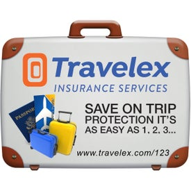 Suitcase Luggage Tag with Printed ID Panel