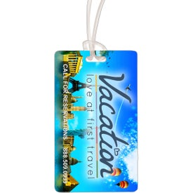 Thunderbolt ID Slip-In Pocket Luggage Bag Tag