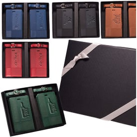 Tuscany Duo-Textured Luggage Tags Gift Set