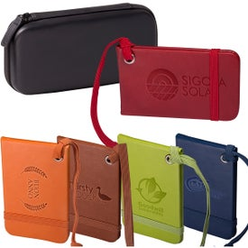 Tuscany Luggage Tags Set in a Case